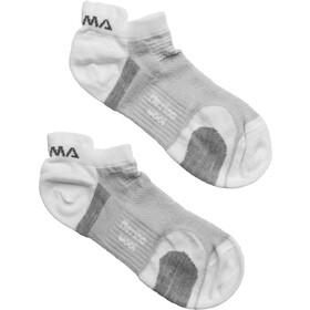 Aclima Ankle Sokken 2 Paar, white/grey